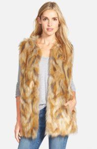 Retro Patchwork Faux Fur Vest
