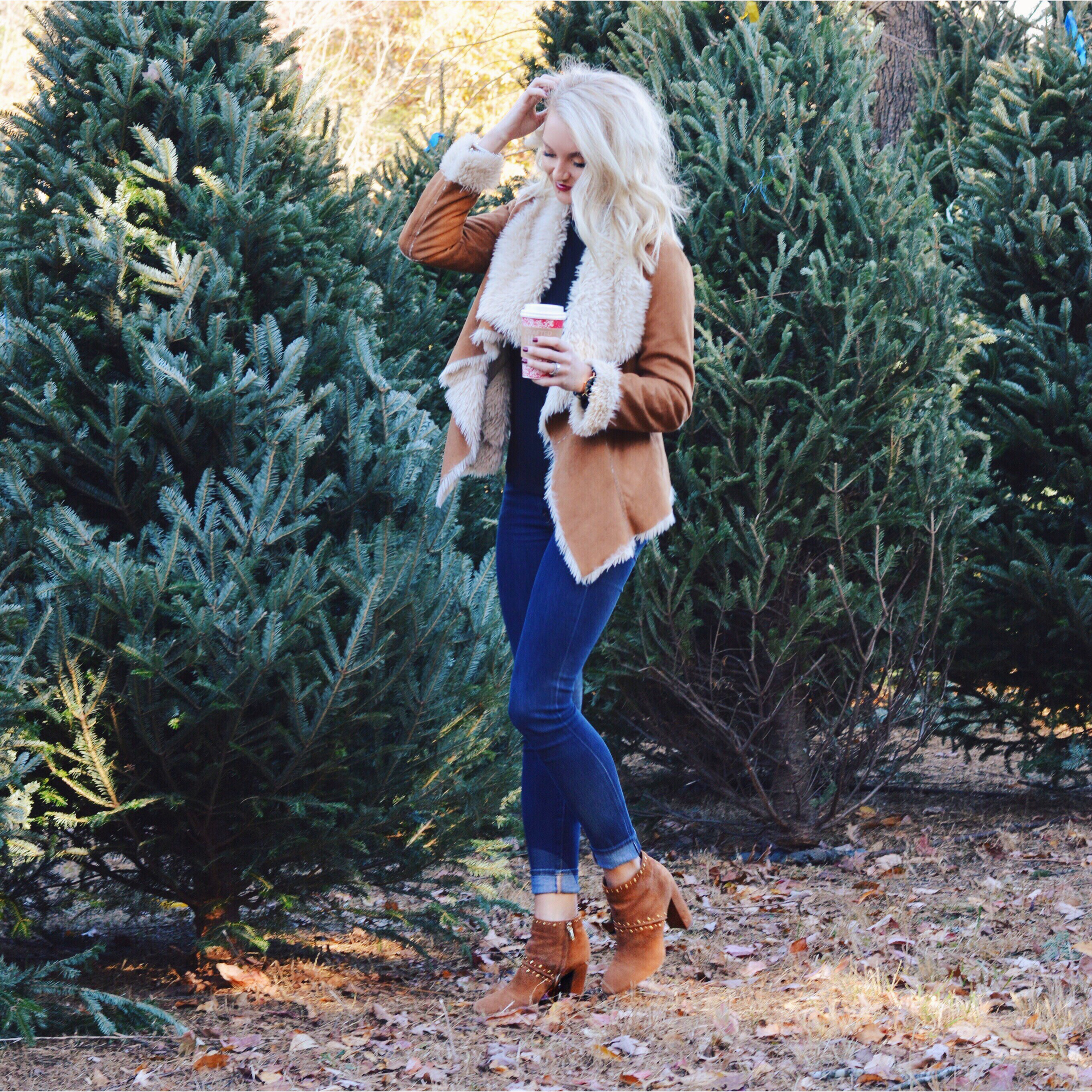 Cupcakes & Cashmere Coat / 7 for all Mankind Jeans / Sam Edelman Chandler  Booties (comes in black)